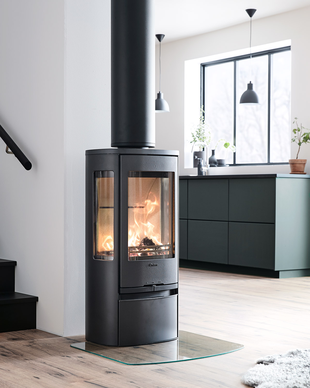 Contura 856 wood stove made in Sweden on sales at showroom Near Bury St Edmunds
