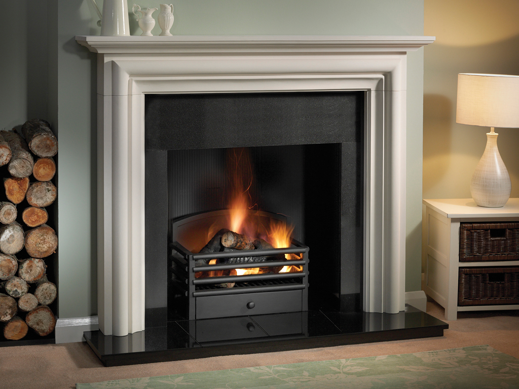 Capital Fireplaces Colby Fireplace with optimist electric Fireplace at our Showroom in Diss